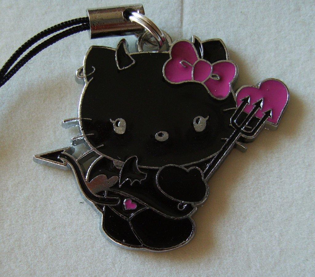 Phone strap Ciondolo per cellulare Hello Kitty Devil #13
