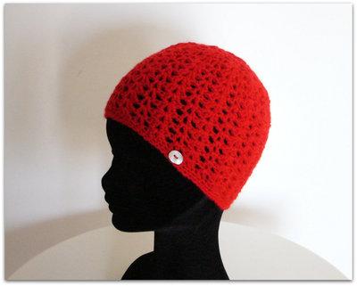 Cappello rosso - uncinetto