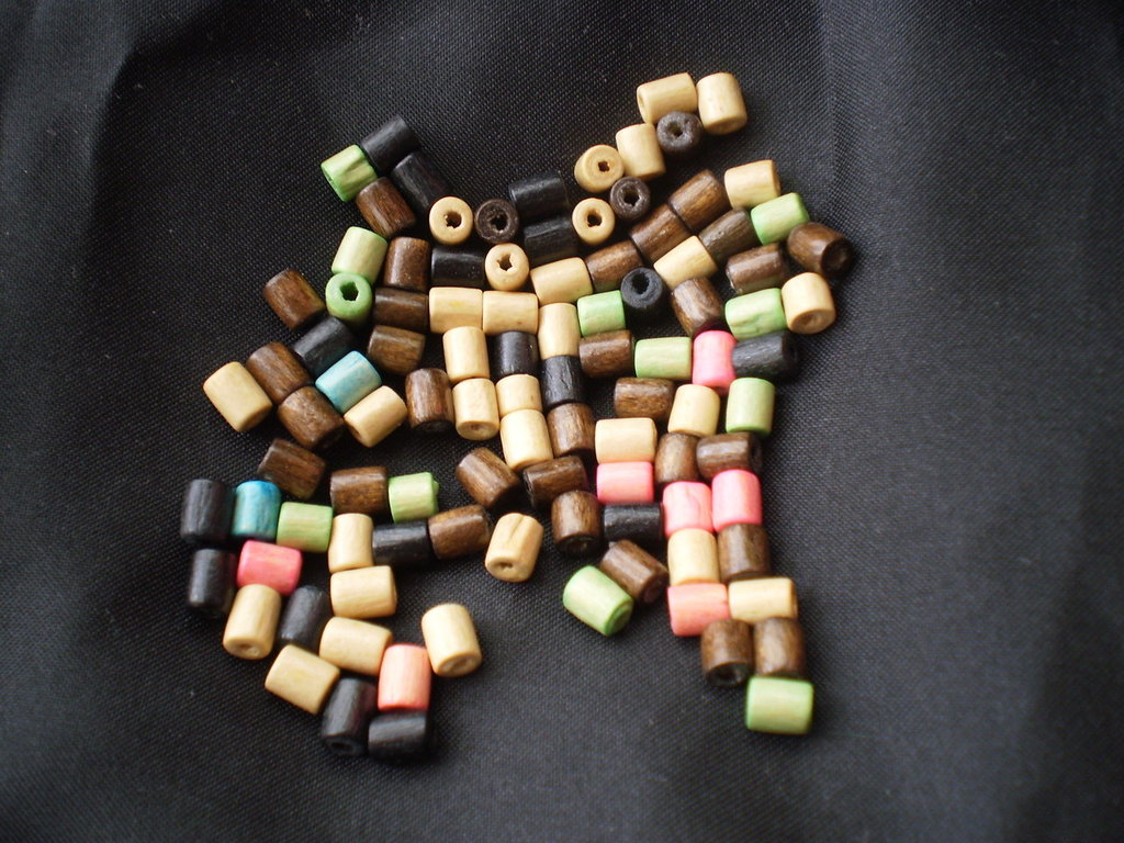 100 perline in legno