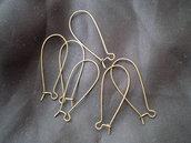 6 monachelle lunghe color bronzo