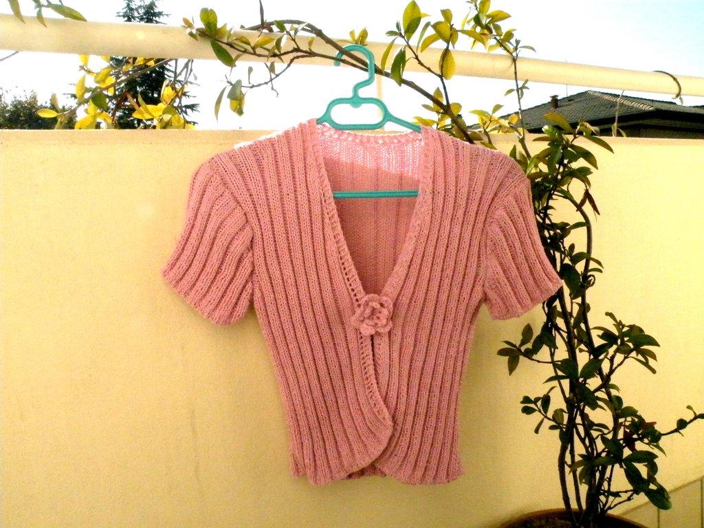 Golfino rosa perla