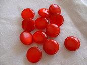Set 12 bottoni lucidi rossi 1.3 cm