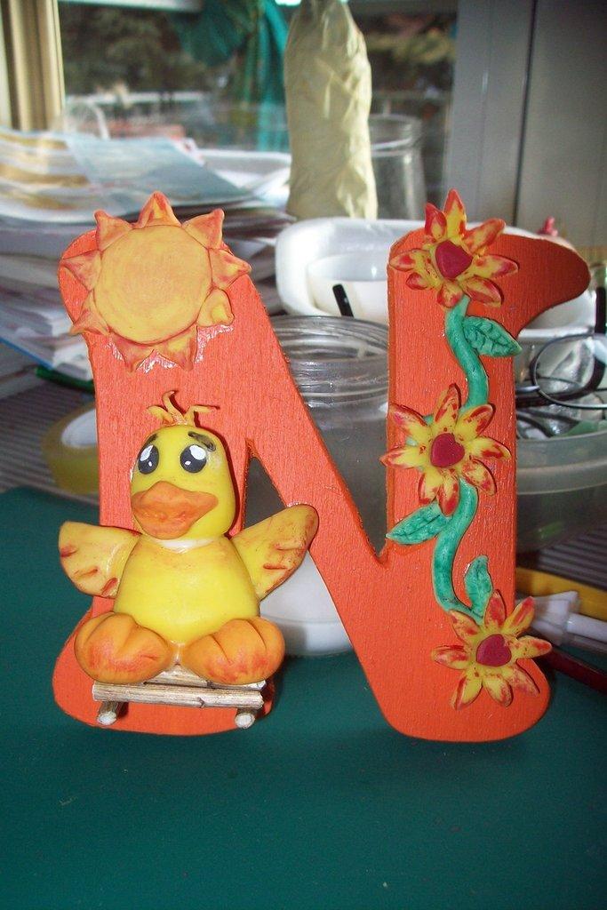 lettere decorate in pasta di mais