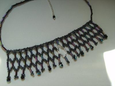 Collana perline e mezzocristalli #48