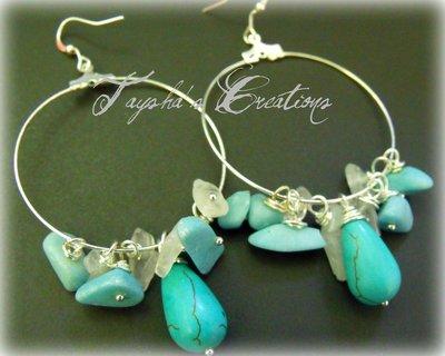 ''turquoise sea'' orecchini