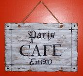 Paris Café Shabby Cottage sign