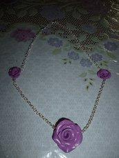 Collana con Rose in Fimo