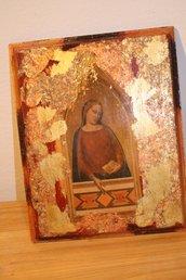 quadro legno decoupage