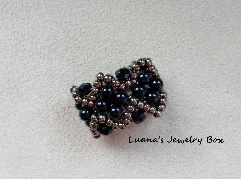 "Anello ""Black Dots"""