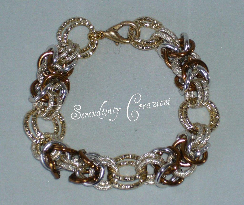 Braccialetto Chain Mail Oro