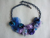 Collana rose blu