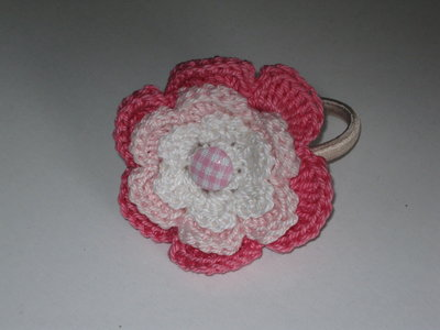 Fermacapelli fiore crochet