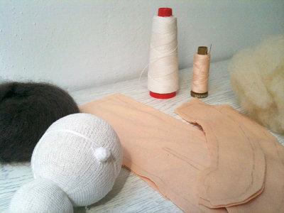 Kit per fare una bambola waldorf media (35cm)
