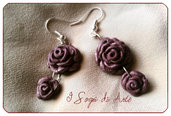 Velvet Rose earrings - Orecchini