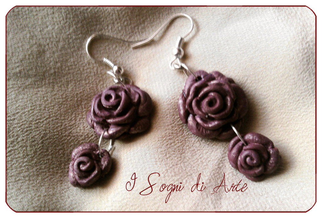 Velvet Rose earrings - Orecchini