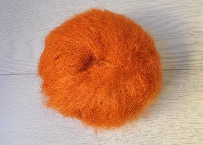 Lana Mohair per capelli delle bambole - rosso Pippy