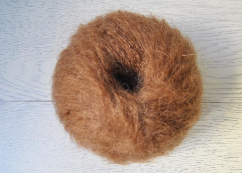 Lana Mohair per capelli delle bambole - castano chiaro