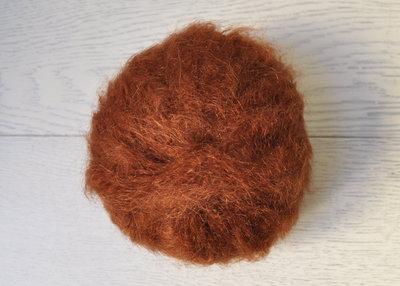 Lana Mohair per capelli delle bambole - castano rosso
