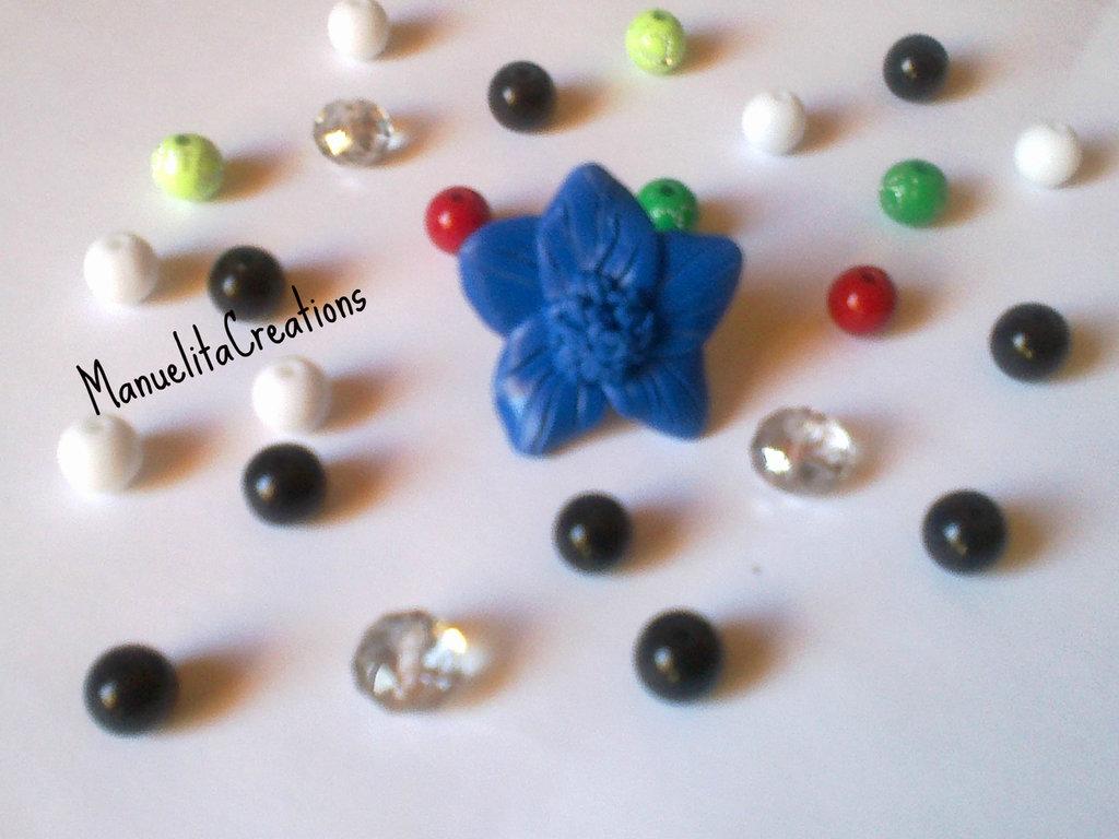 Anello fiore Blu