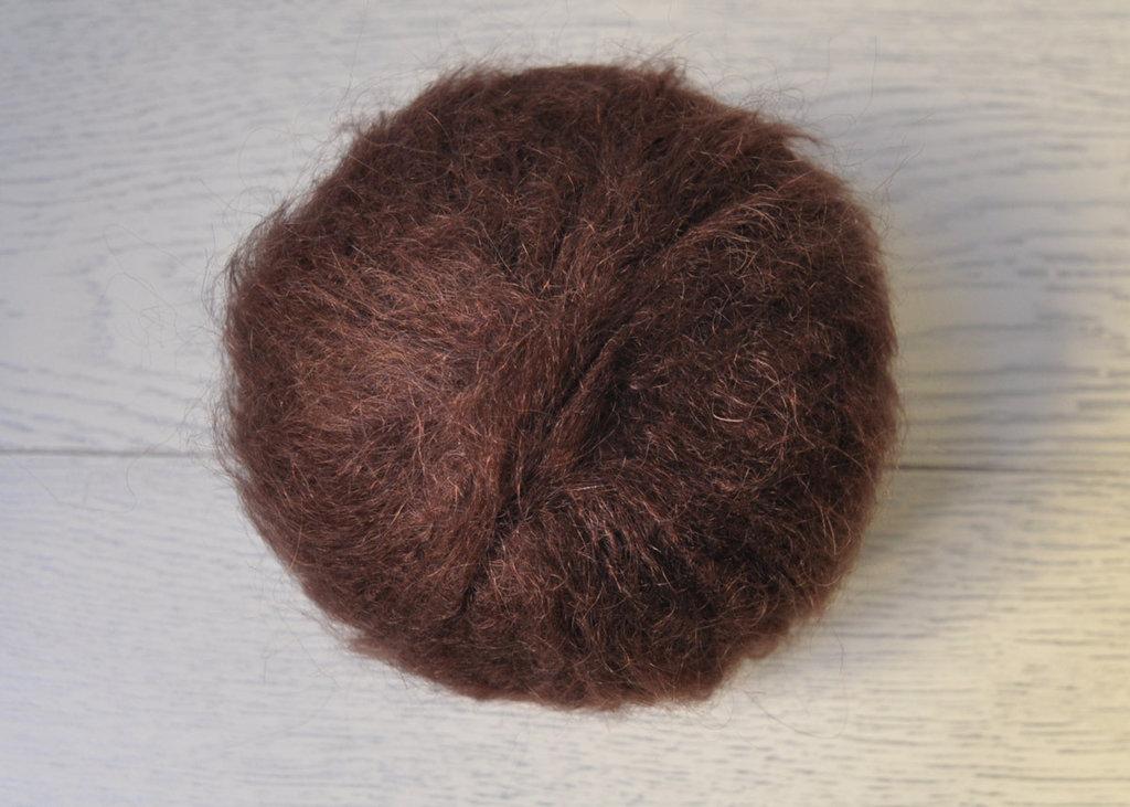 Lana Mohair per capelli delle bambole - castano scuro