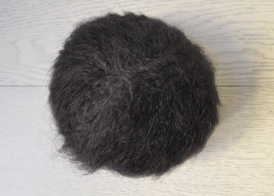Lana Mohair per capelli delle bambole - nero