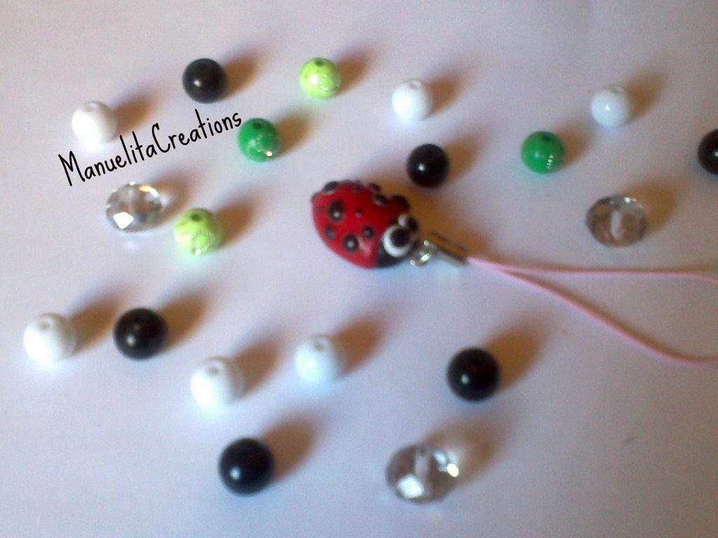 Phone strap Coccinella kawaii