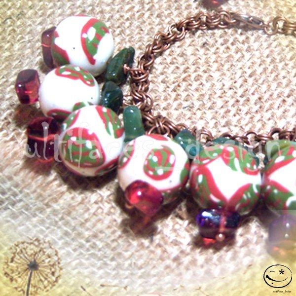 bracciale+orecchini fimo-verde