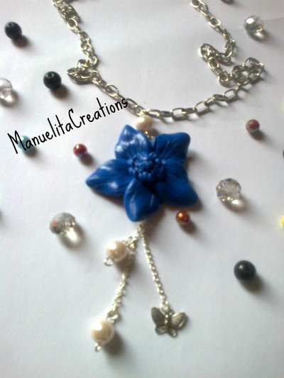 Collana fiore Blu