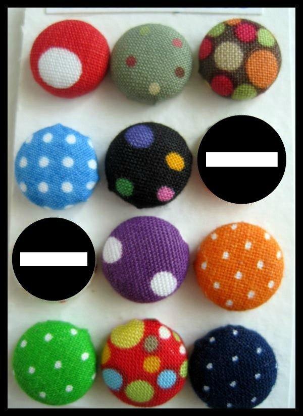 Orecchini bottone multi colori