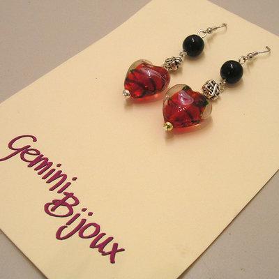 Orecchini Red Hearts