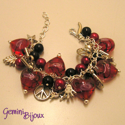 Bracciale Red Hearts