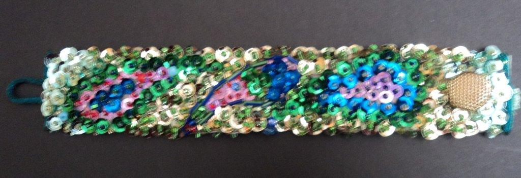Bracciale donna Disegno cashmere- handmade bracelet