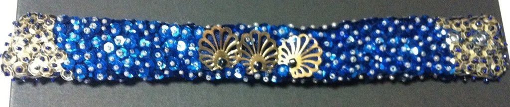 Bracciale paillettato- handmade bracelet