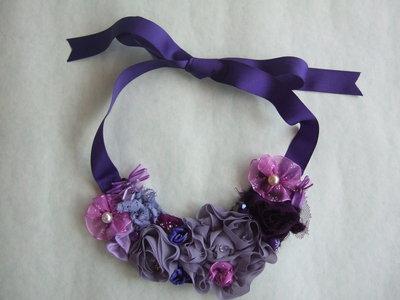 Collana rose viola/lilla
