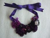 Collana rose viola/vinaccia