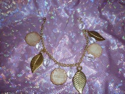 Bracciale foglie oro