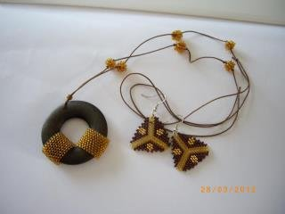 Necklace-earrings (set)