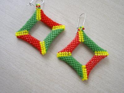Summer Square Earrings
