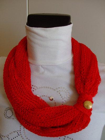 Sciarpina Girocollo rosso Tangerine in viscosa