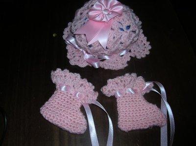 cuffia + scarpine neonato