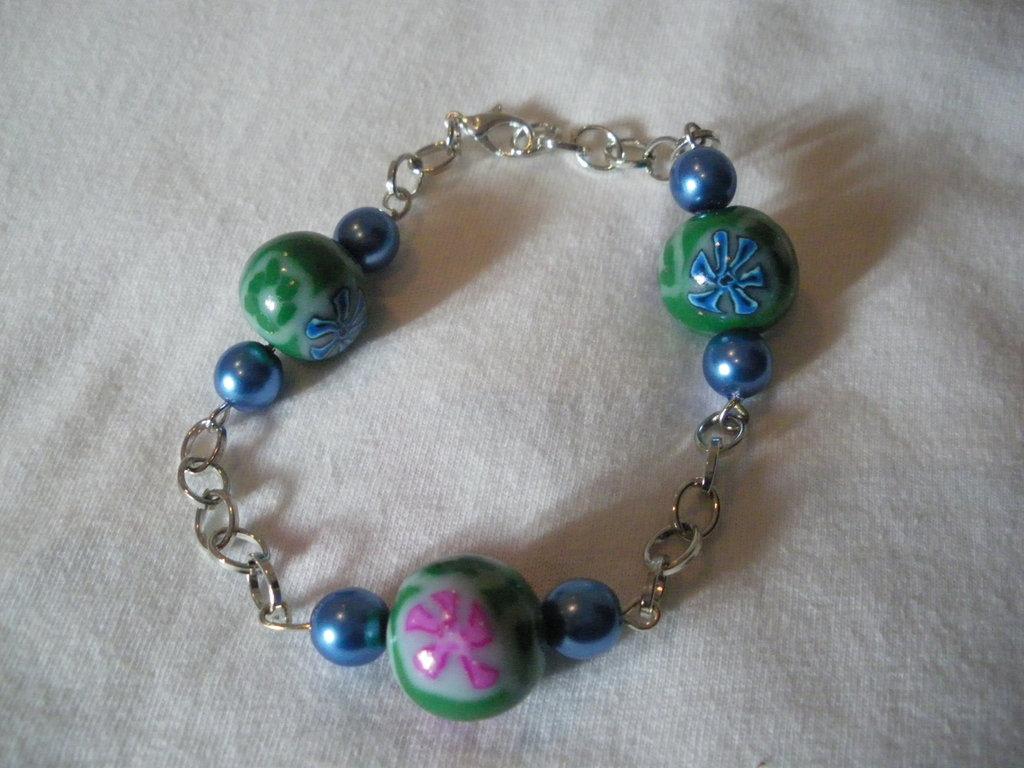 bracciale con perle in fimo