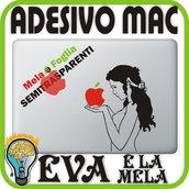 EVA E LA MELA - APPLE MAC MACBOOK ADESIVO 13 15 17 PRO DECALCOMANIA ORIGINAL SIN