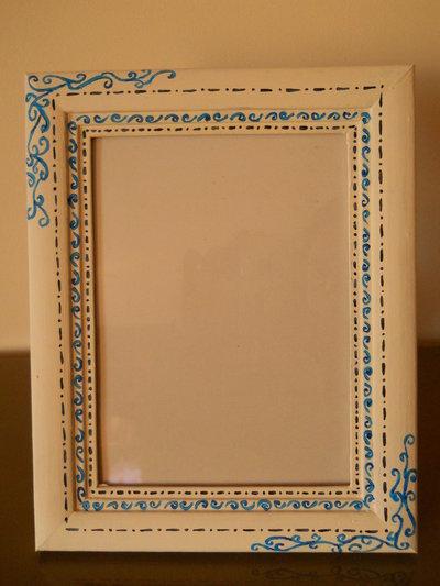 Cornice portafoto dipinta a mano
