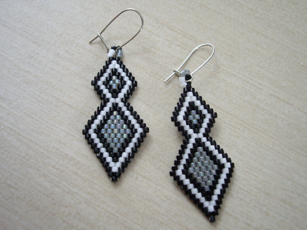 Brick Stitch Diamonds-Earrings
