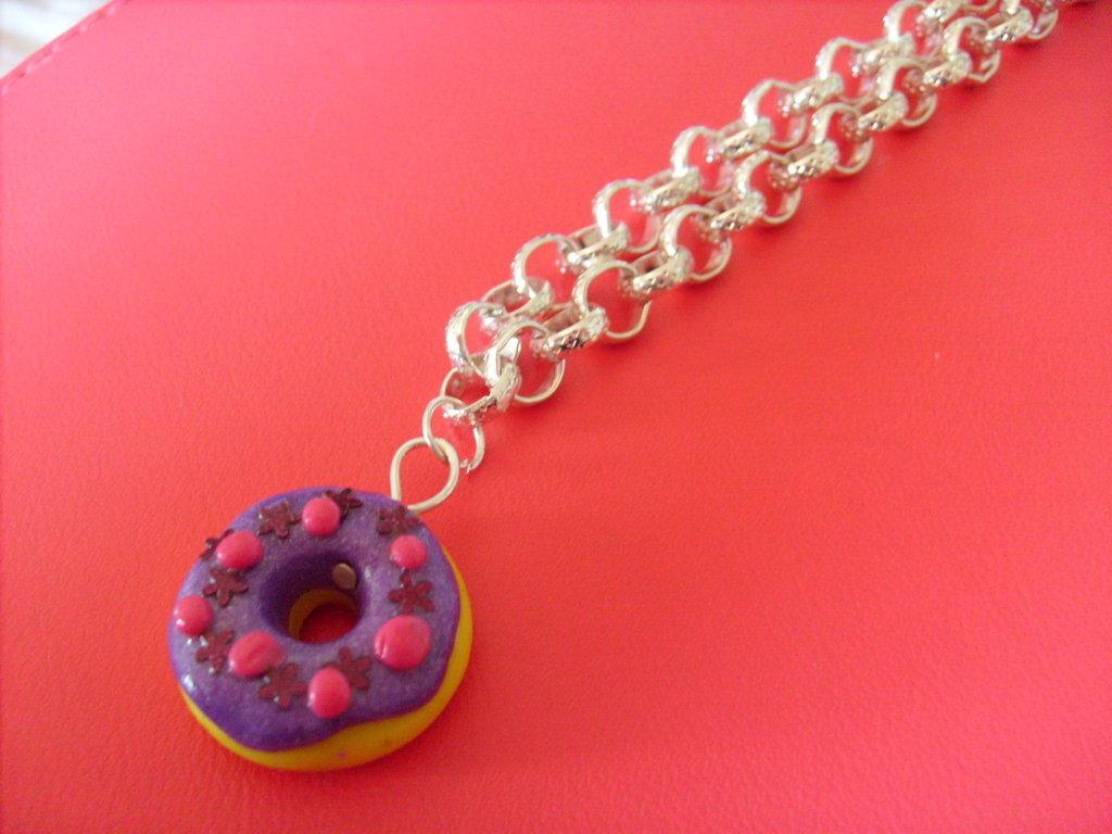 Collana con donut in fimo