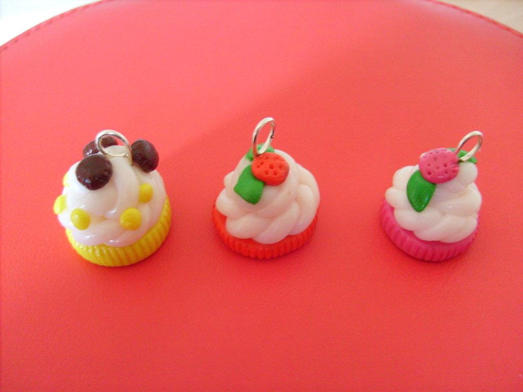 Ciondoli cupcakes in fimo