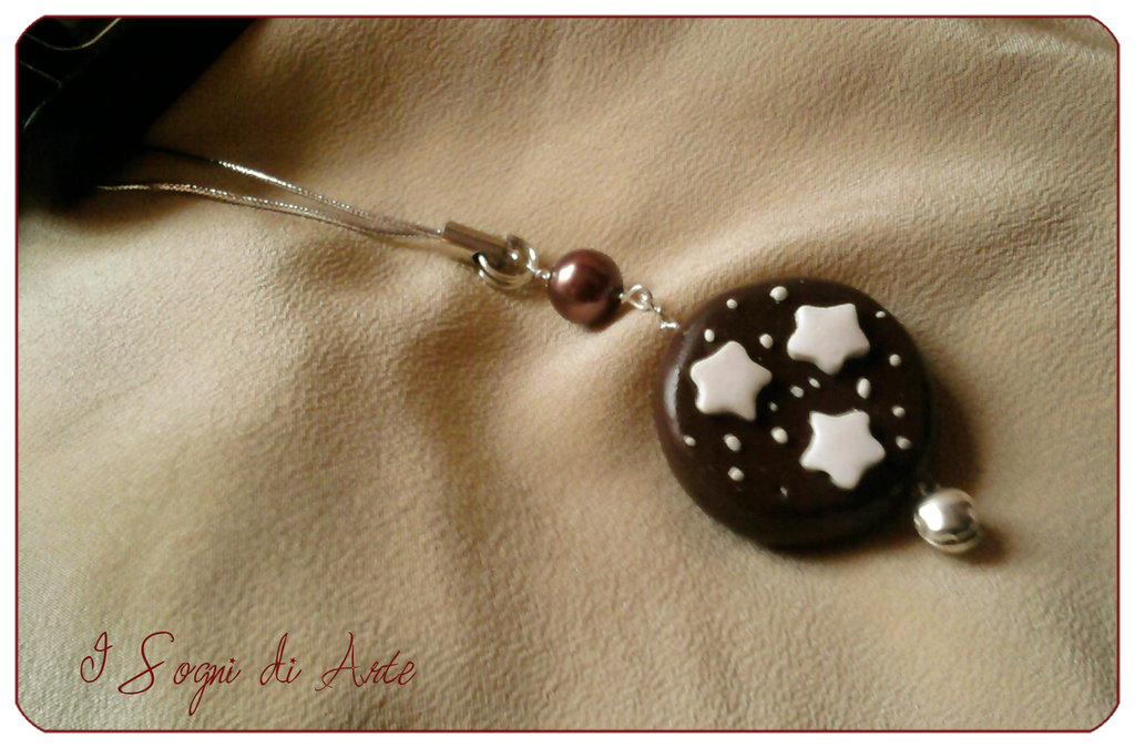 "Phone Dangle - Italian cookie ""Pan di Stelle"""