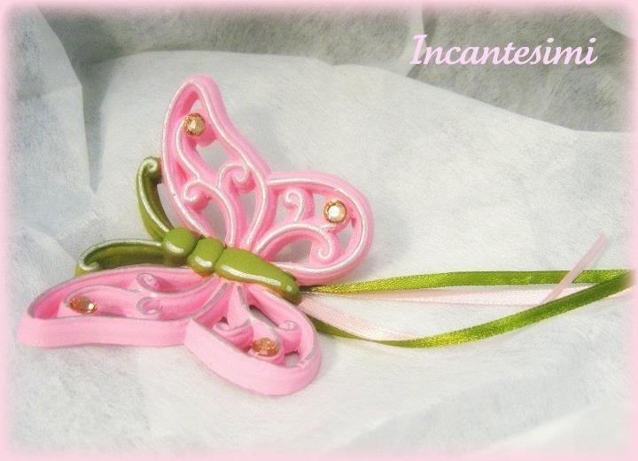 Farfalla in terracotta - Bomboniera
