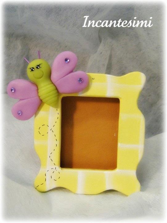 Cornice con farfalla, bomboniera compleanno bimba, regalo bimba, portafoto