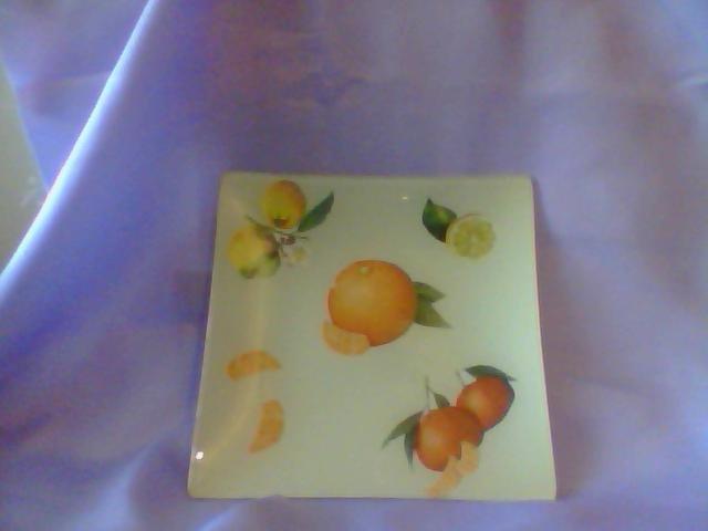 piatto decorato  con decoupage